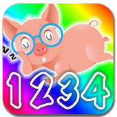 First Words: Colours, Numbers and Shapes application for children with lector